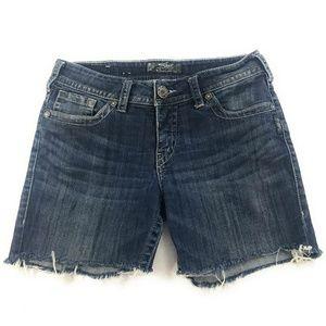 Silver Womens Suki Cuttoff Jean Shorts, Size 29